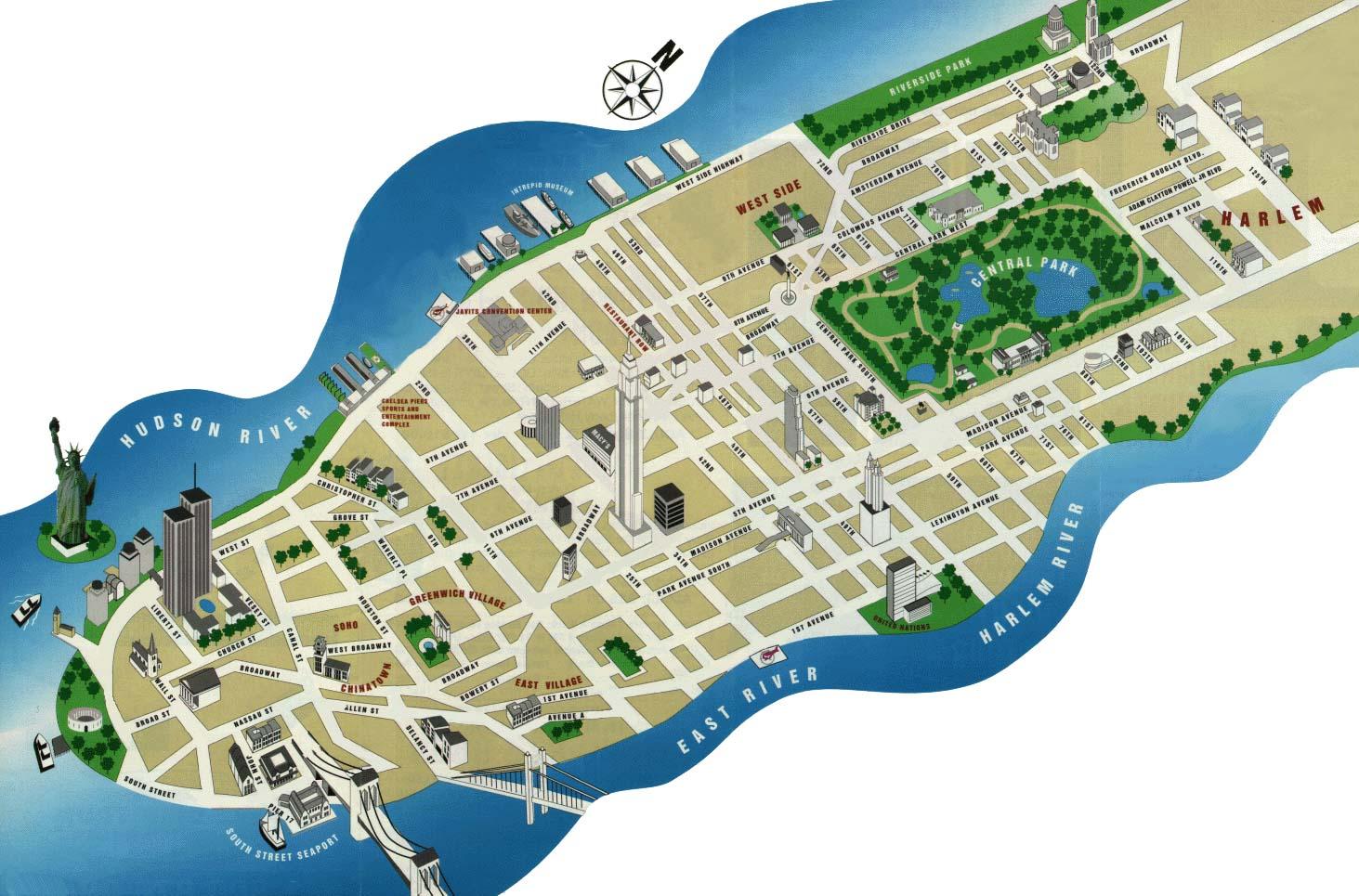 New-York-Tourist-Map